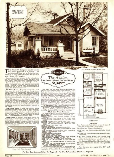 avalon 1923 sears kit houses california bungalow avalon sears kit home i love these old plans from the 20