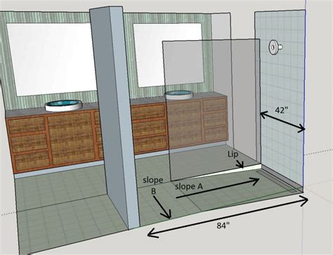 How To Build A Curbless Shower by Curbless Shower Question Terry Plumbing Remodel