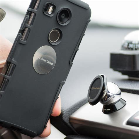 Universal 360 Degree Magnet Car Holder For Smartphone Silver 1 magnetic car mount 360 degree rotatable universal car