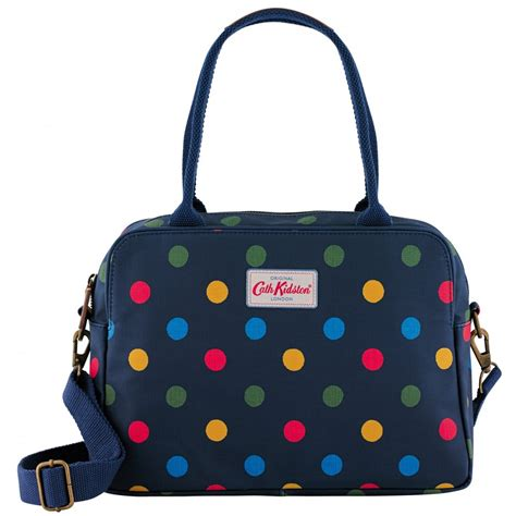 cath kidston button spot busy bag navy polka dot bag