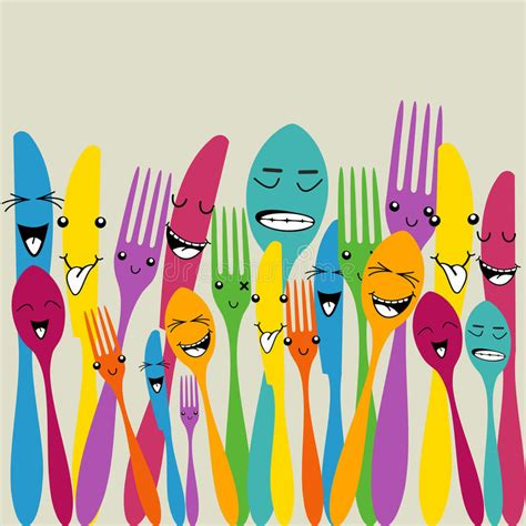 colorful silverware colorful silverware set stock images image 32019464