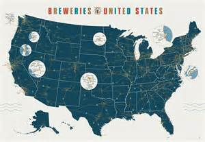 breweries map map of american breweries of tomorrow
