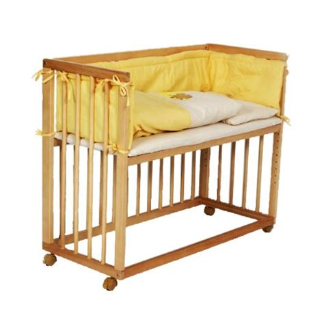 Bedside Co Sleeper Cot baby bedside cot bed co sleeper yellow martha h fleming