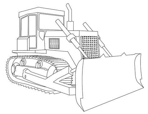 Displaying 17&gt Images For  Bulldozer Drawing sketch template