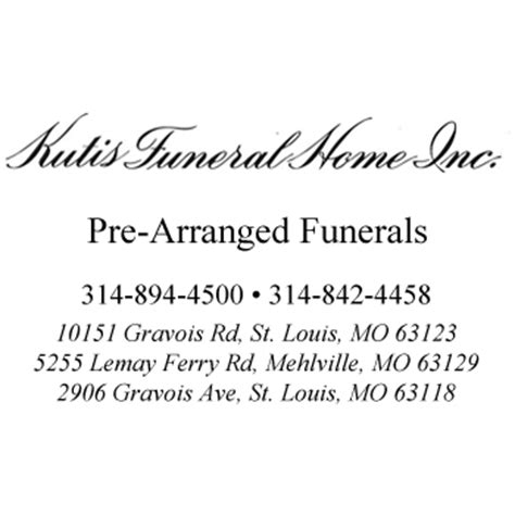 kutis funeral home inc pre planning funeral home