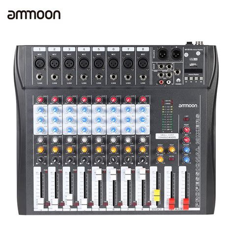 Mixer Linkmaster Ct 6s Usb 6 Channel ammoon ct80s usb 8 channel digtal mic line audio mixing mixer console w 48v phantom power for