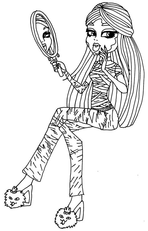 monster high dead tired coloring pages dead tired cleo by elfkena on deviantart