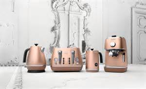 Copper Appliances Kitchen delonghi embrace the metallic trend with new distinta collection the
