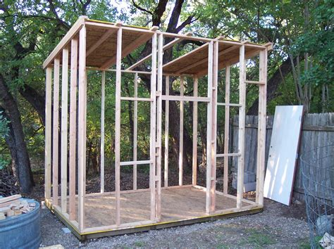 Shed Framing by Rock Oak Deer Style Shed Project