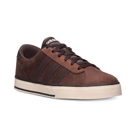 adidas s se daily vulc casual sneakers from finish line in brown for brown sand clay