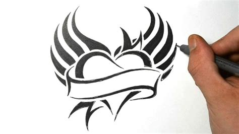 how to draw tribal tattoo how to draw a with wings tribal design