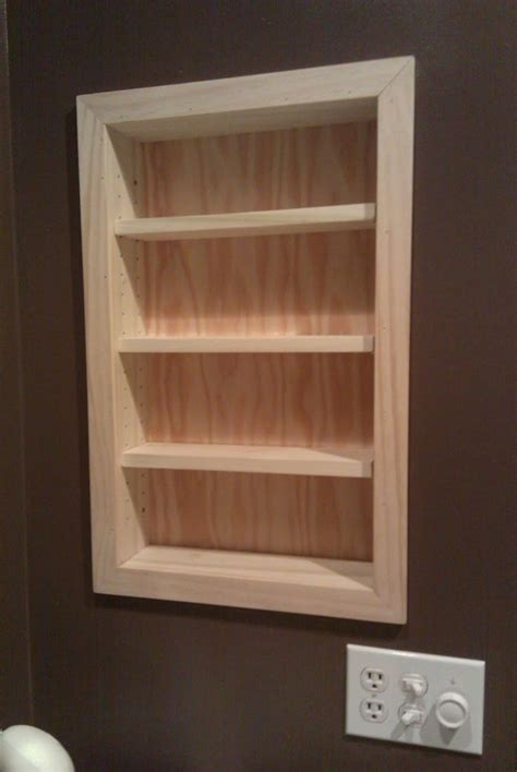 Recessed Bathroom Storage Cabinet 108 Best Recessed Shelving Ideas Images On Pinterest