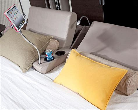 bed with cup holder modern platform bed w lights cup holders and ipad holder 44b135bd