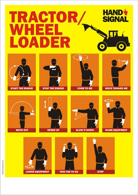 Food Truck Kitchen Design by Safety Poster Tractor Hand Signals Safety Poster Shop