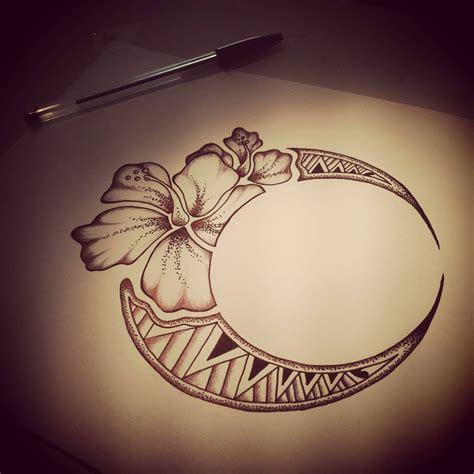 flower moon tattoo hawaiian flower moon design tatoos