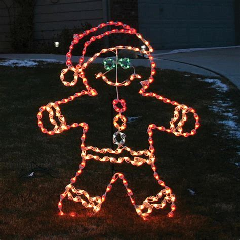 Lighted Outdoor Decorations Lighted Outdoor Gingerbread Boy Outdoor Decorations Traditional Outdoor Cushions