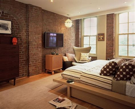brick bedroom red brick wall in the modern bedroom seems perfectly at