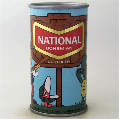 beer can cartoon national bohemian light beer cartoon can 097 05 at