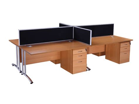 endurance rectangle desk in light oak second office