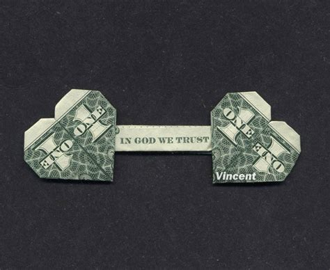 Two Dollar Bill Origami - quot in god we trust quot money vincent the artist