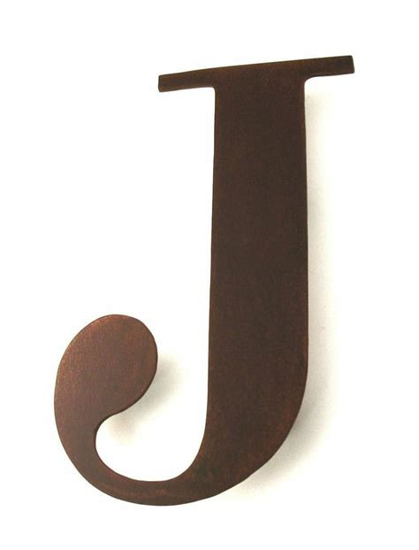 J Sign Letter Wall Decor Metal Letters For Home Styling   metal j sign letter metal wall art sculpture rusty rustic