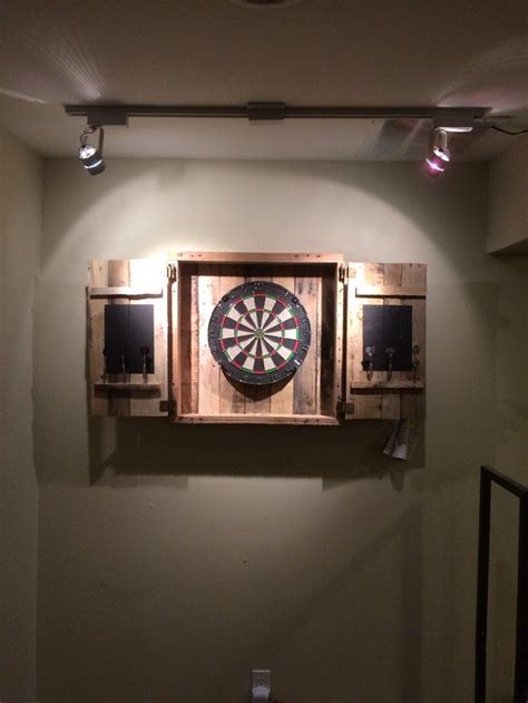 dart board cabinet ideas how to a dartboard cabinet pallets diy