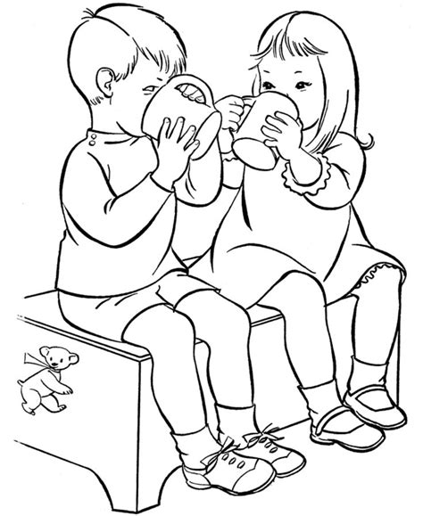 coloring page drinking water 28 best drinks coloring pages images on pinterest