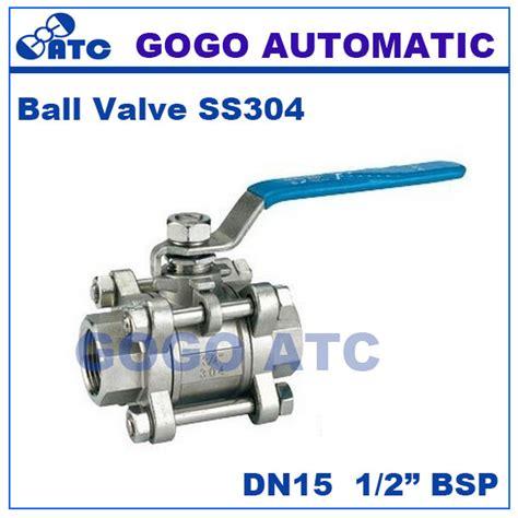 Valve Sankyo Type 3pc Drat Ss316 1 2 Inch gogo high quality type three stainless steel switch valve 1 2 inch bsp thread dn15