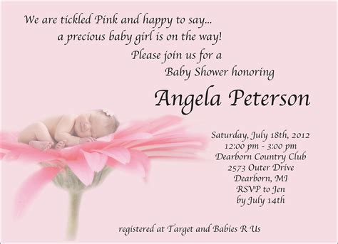 invites for baby shower girl girl baby shower invitations wording theruntime com