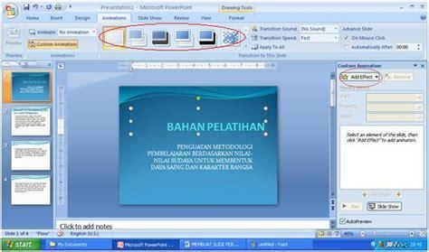 membuat power point 2007 membuat animasi halaman dan teks power point 2007 membuat