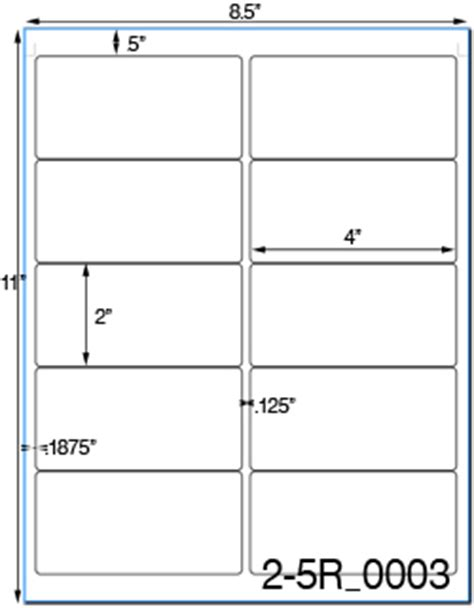 template for avery 5163 labels blank avery 5163 template word images