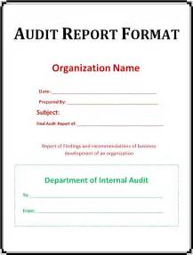 audit report templates simple audit report format template exle with