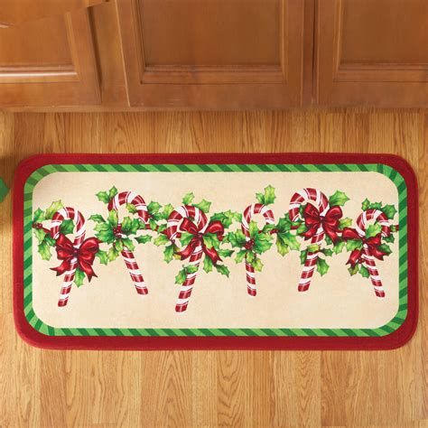 christmas accent rugs christmas candy cane foam rug mat kitchen bathroom holiday