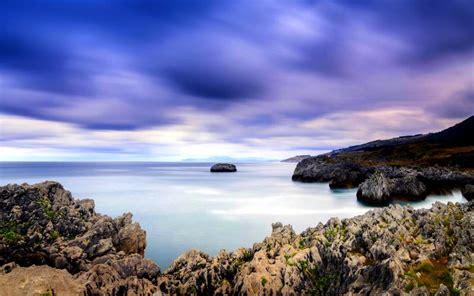 hd rocky coast wallpaper