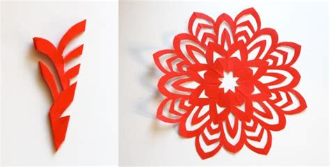 How To Make Pretty Paper Snowflakes - how to make 5 pointed paper snowflakes how about orange