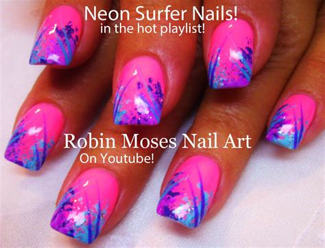 God 01 Stripe 3block Pink robin moses nail august 2014