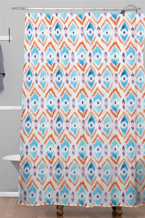 ikat shower curtains ikat thought 1 woven shower curtain wonder forest