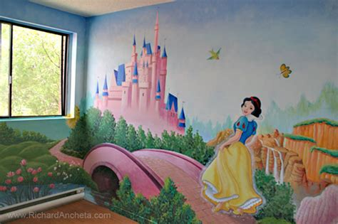 Large Wall Murals Uk children s mural painting disney princesses montreal