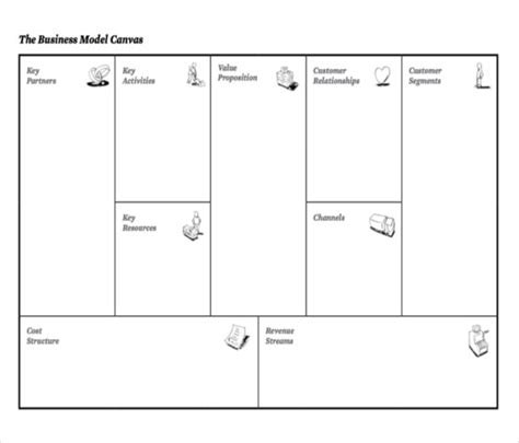 Business Canvas Template Word Business Model Canvas Template 20 Free Word Excel Pdf