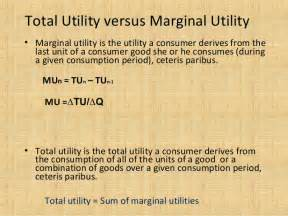 total utility vs marginal utility theory of consumer behavior cardinal approach