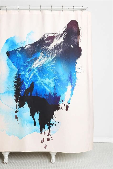 wolf shower curtain wolf shower curtain furniture ideas deltaangelgroup