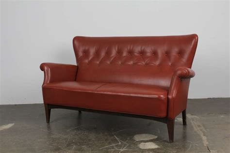 Tight Back Leather Sofa Leather Tufted Tight Back And Seat Sofa At 1stdibs