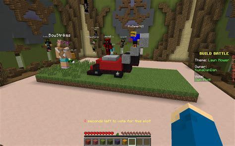 build battle themes list minecraft minecraft build battle lawn mower by kumadandan on