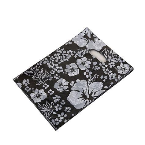 black patterned gift bags pack of 100 patterned large plastic carrier bags black floral