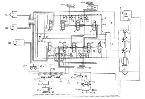 hydraulic wiring diagram hydraulic schematic diagram for hyundai excavator