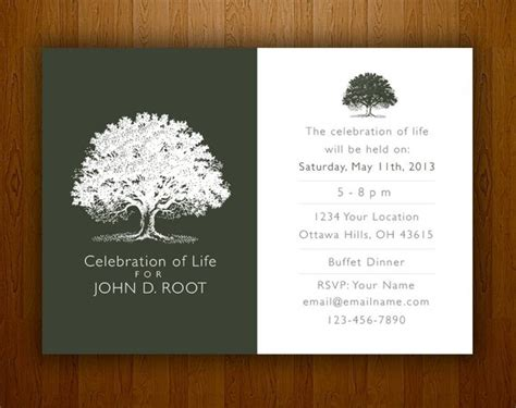 ordering a celebration of card template mourning card for memorial funeral announcements or invites