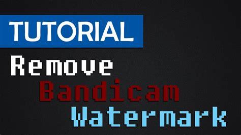 tutorial watermark tutorial remove bandicam watermark with wondershare video