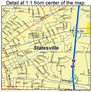 statesville carolina map 3764740