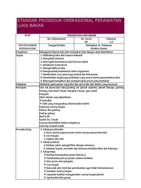 Satu Set Pinset standar prosedur operasional perawatan luka bakar