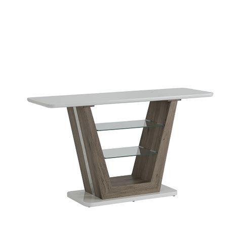 high sofa table console table rectangular in white high gloss